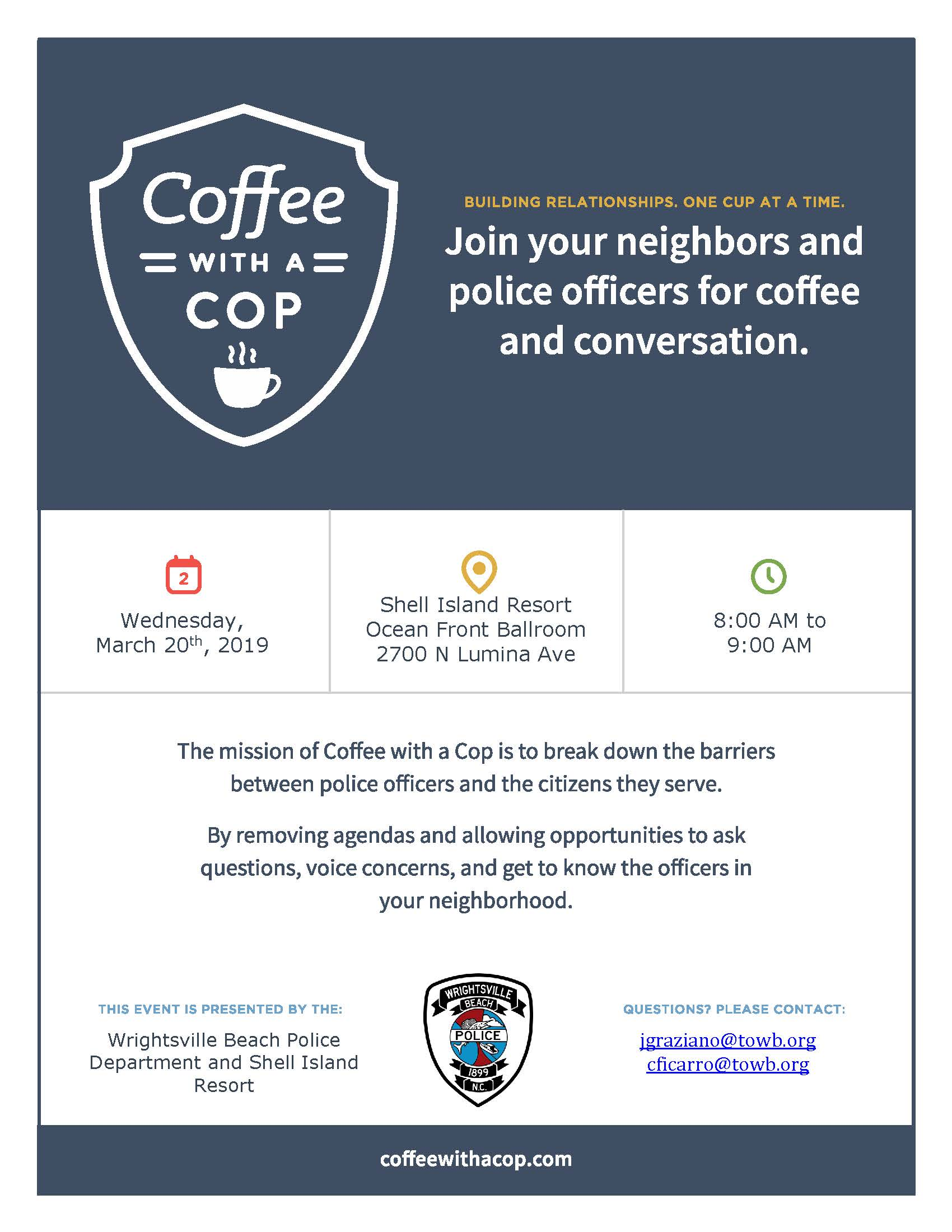 Coffee Cop Flyer - March 2019