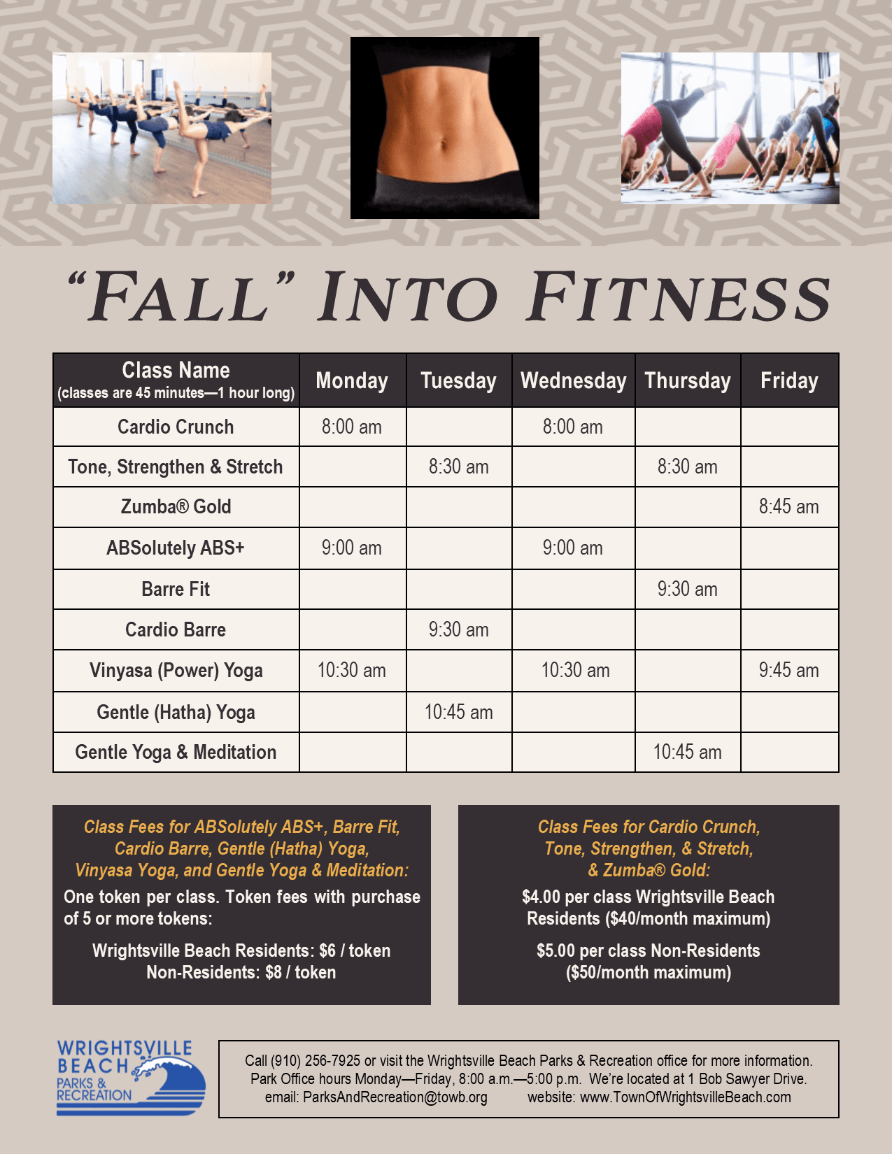 Fitness Schedule 10.8.19 New Design